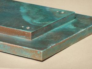 Grünspan-Effekt Materiallack mit echter Oxidation
